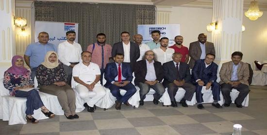 مجاهد والبقالي في اجتماع للصحافيين الليبيين لتأسيس إطار نقابي